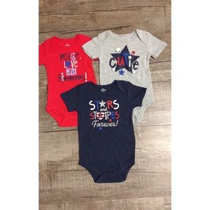 Fourth of July onesies